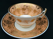 NO LONGER AVAILABLE COALPORT London shaped cup & saucer c1820